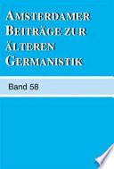 Amsterdamer Beitrage Zur Alteren Germanistik
