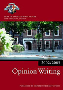 Opinion Writing 2002 2003