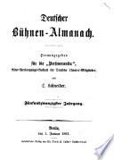 Almanach für Freunde der Schauspielkunst. Hrsg. von L. Wolff