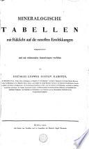 Mineralogische Tabellen mit Rücksicht auf die neuesten Entdekkungen