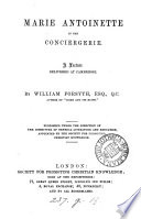 Marie Antoinette in the Conciergerie  a lecture