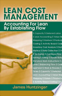Lean Cost Management Free download PDF and Read online