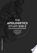 CSB Apologetics Study Bible  Hardcover  Indexed