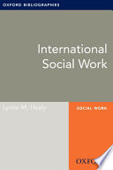 International Social Work  Oxford Bibliographies Online Research Guide