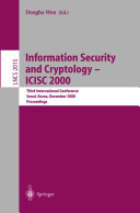 Information Security and Cryptology - ICISC 2000