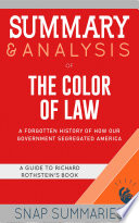 Summary Analysis Of The Color Of Law