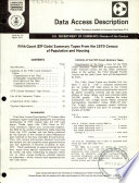 Fifth Count  zip Code  Summary Tapes from the 1970 Census of Population and Housing