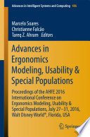 Advances in Ergonomics Modeling  Usability   Special Populations