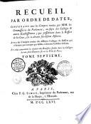 Recueil complet par ordre de dates  de tous les arr  ts du Parlement de Paris    concernant les soi disans J  suites