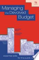 Managing the Devolved Budget