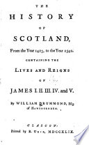 The History of Scotland  from the Year 1423  to the Year 1542