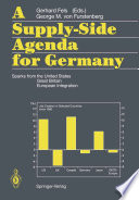A Supply-Side Agenda for Germany