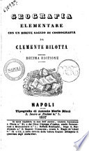 Geografia elementare  Con un breve saggio di cosmografia Clemente Bilotta