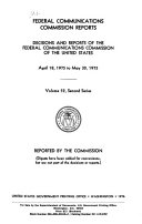 Book Federal Communications Commission Reports