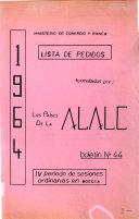 Lista de pedidos formulados por los pa  ses de la ALALC