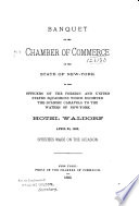 Banquet Of The Chamber Of Commerce Of The State Of New York To The Officers Of The Foreign And United States Squadrons Which Escorted The Spanish Caravels To The Waters Of New York book