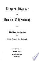 Richard Wagner und Jacob Offenbach