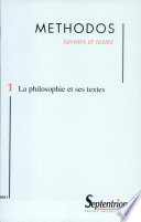 illustration Methodos, n°1/2001 : La philosophie et ses textes