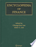 Encyclopedia Of Finance : of finance. coverage includes finance (financial...