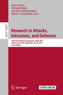 Research in Attacks, Intrusions, and Defenses Book