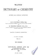 Watts  Dictionary of Chemistry