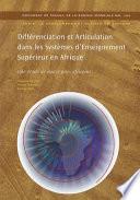 illustration du livre Différenciation et articulation dans les systèmes d'enseignement supérieur