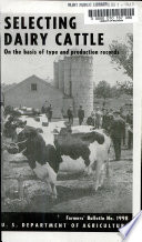 Selecting Dairy Cattle on the Basis of Type and Production Records