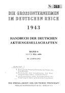 Handbuch der deutschen Aktiengesellschaften