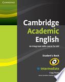 Cambridge Academic English B1  Intermediate Student s Book