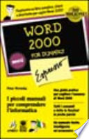 Word 2000 Espresso For Dummies