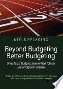 Beyond Budgeting, Better Budgeting
