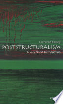 Poststructuralism  A Very Short Introduction