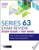 Wiley Series 63 Securities Licensing Exam Review 2020 Test Bank