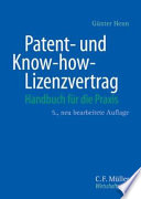 Patent  und Know how Lizenzvertrag