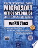 Guide de pr  paration    l  examen Microsoft Office specialist  certification bureautique