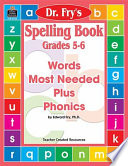 Spelling Book  Grades 5 6 by Dr  Fry