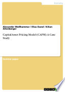 Capital Asset Pricing Model  CAPM   A Case Study