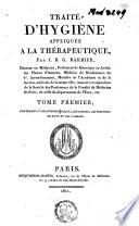 illustration Traité d'hygiène appliquée à la thérapeutique