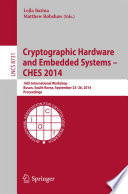 Cryptographic Hardware and Embedded Systems    CHES 2014