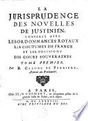 illustration La jurisprudence des novelles de Justinien
