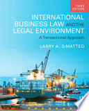 International Business Law and the Legal Environment