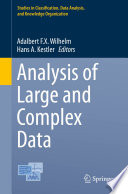 Analysis Of Large And Complex Data book