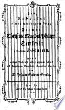 Zum Andenken einer würdigen Frau, Frauen Christina Magdal. Philipp. Semlerin gebornen Döbnerin ... von ... Johann Salomo Semler