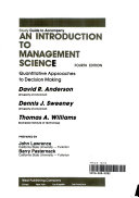 Study guide to accompany An introduction to management science