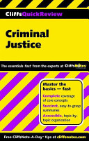 CliffsQuickReview Criminal Justice