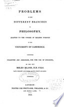 Problems in the different branches of philosophy