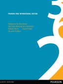 Statistics for Business  Pearson New International Edition