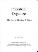 Prioritize  Organize