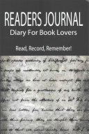 Readers Journal   Diary for Book Lovers  Read  Record  Remember