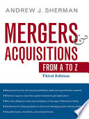 Mergers   Acquisitions from A to Z